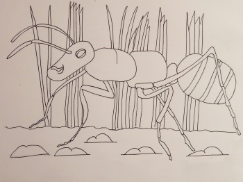 Sample artwork - ant